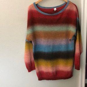 Divided oversized sweater